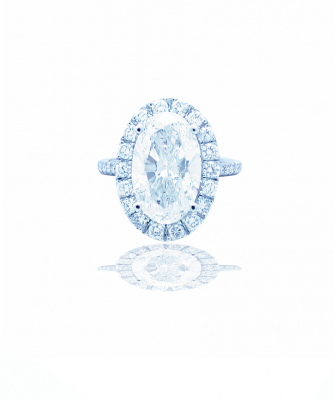 3 carat oval diamond halo engagement ring