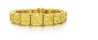yellow diamond radiant bracelet