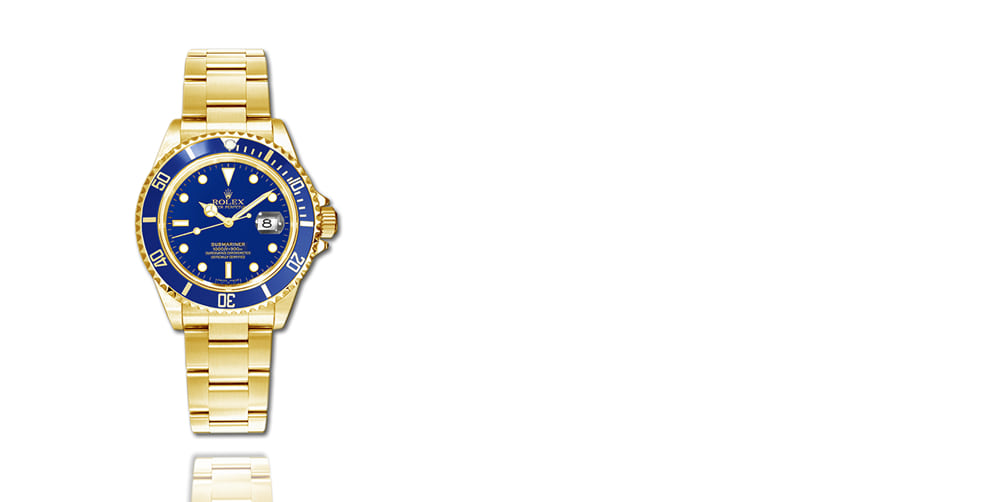 pre-owned rolex gold submariner.