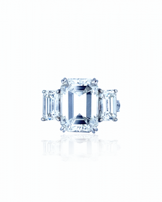 11 carat emerald cut engagement ring