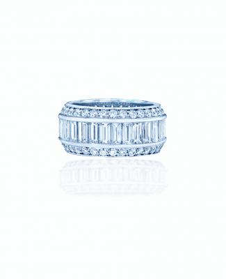 baguette and diamond eternity band