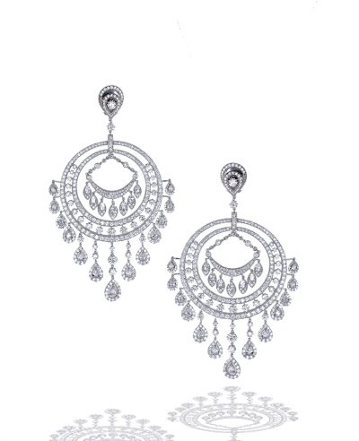 Large Diamond Chandelier Earrings