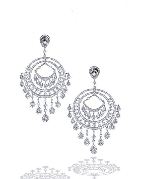 Large Diamond Chandelier Earrings