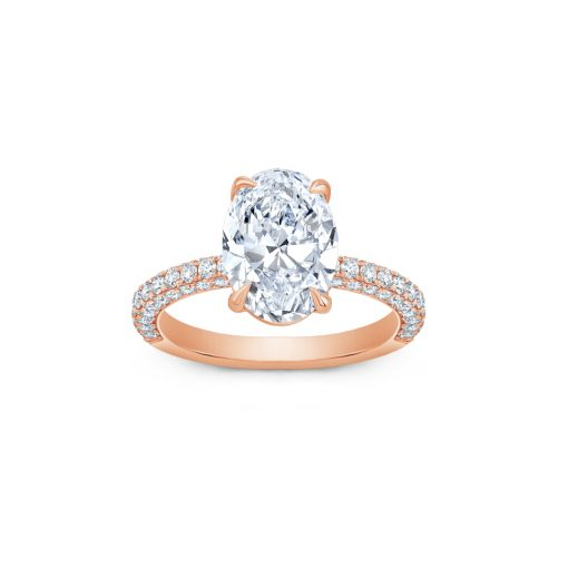 Winston's Engagement Ring Rose Gold A